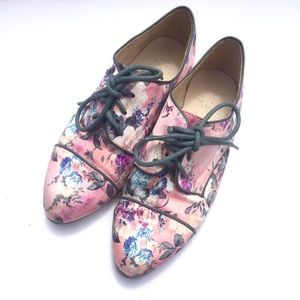 Floral Sateen Oxfords